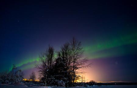 Balmuir Aurora borealis