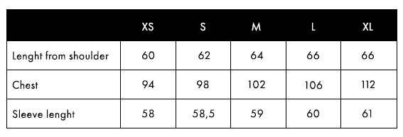 Balmuir Valeria Size Chart